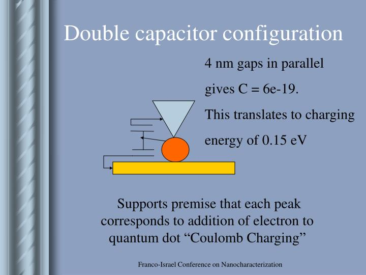 Double capacitor configuration
