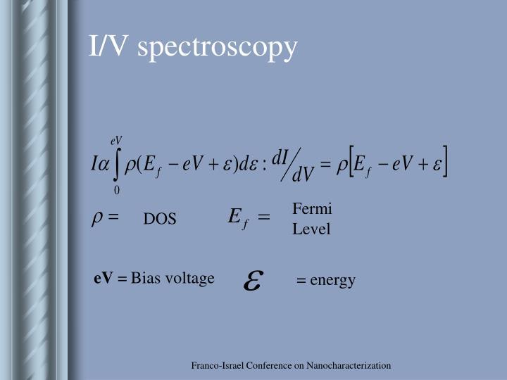 I/V spectroscopy