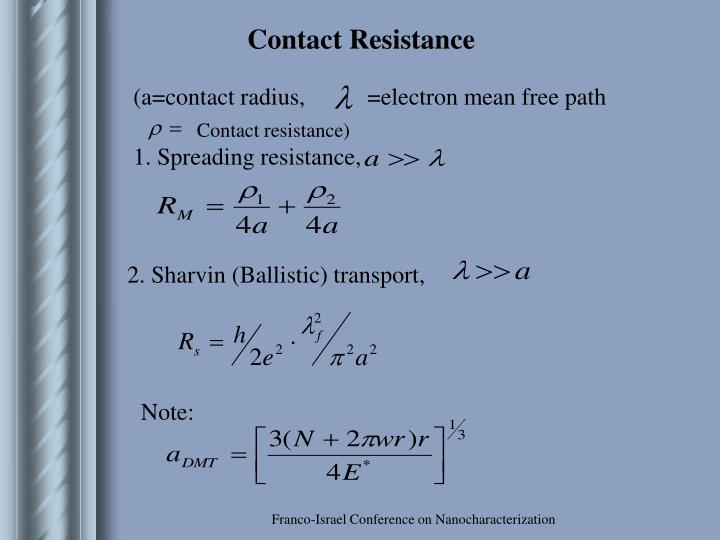 Contact Resistance