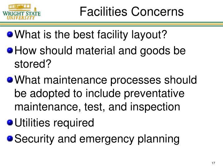 Facilities Concerns