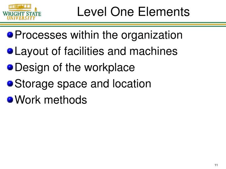 Level One Elements