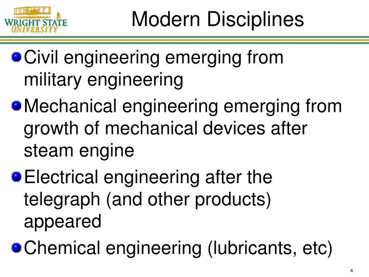 Modern Disciplines