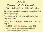 dol as operating profit elasticity