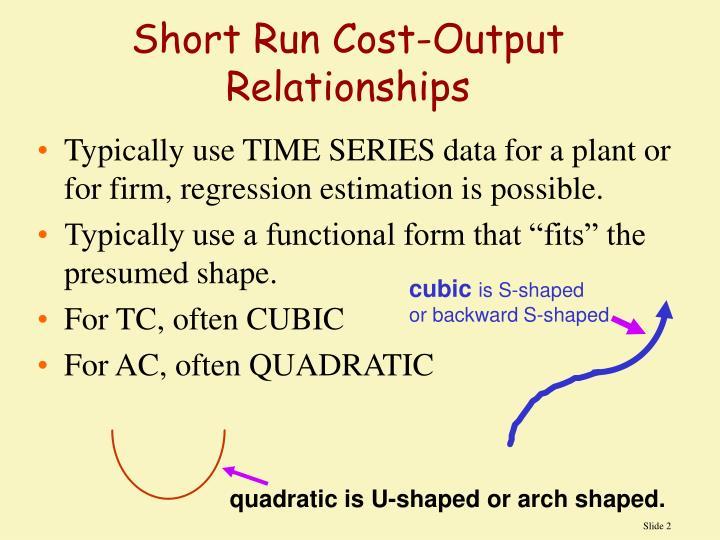 Short Run Cost-Output Relationships