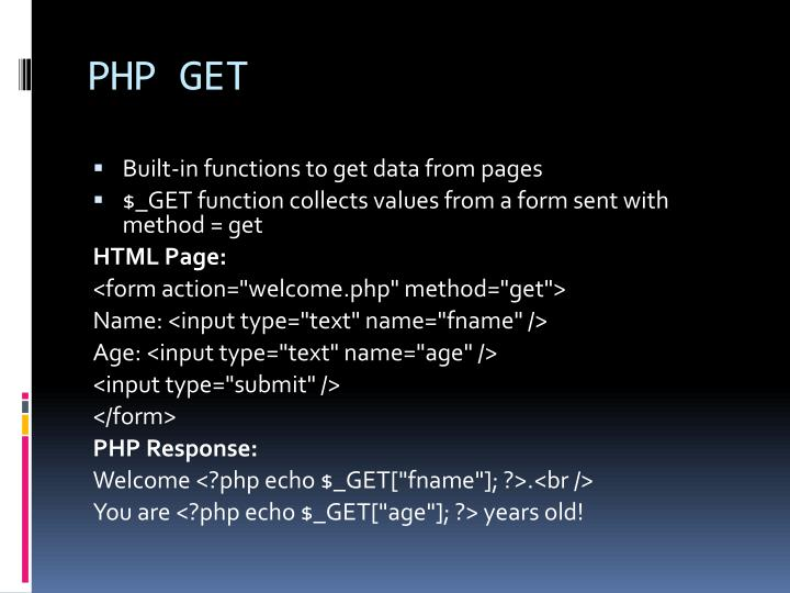 PHP GET
