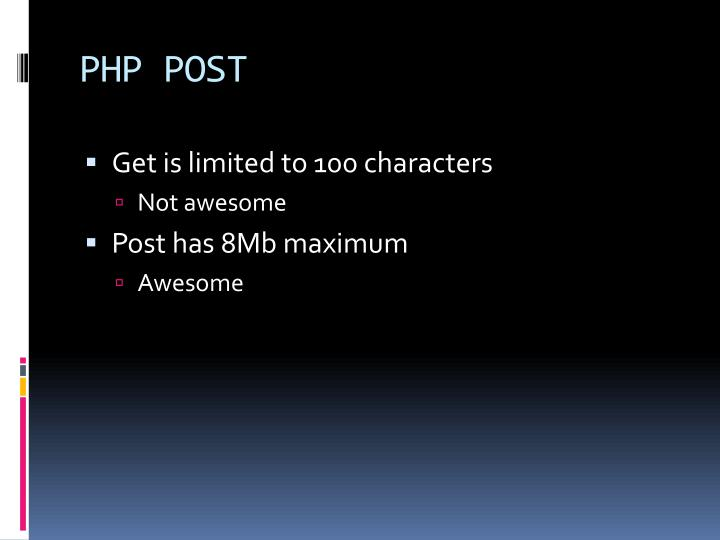 PHP POST