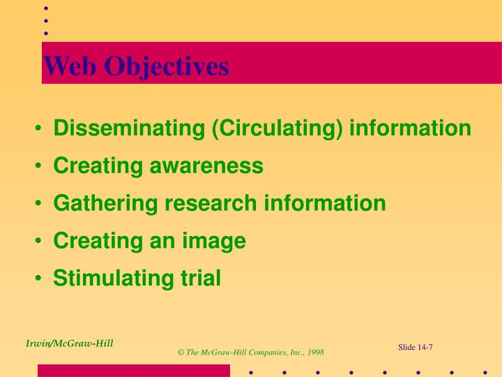 Web Objectives