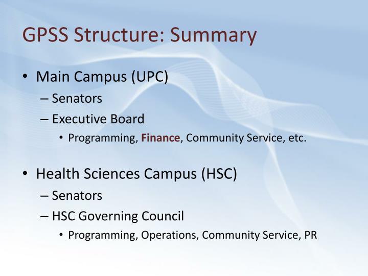 GPSS Structure: Summary