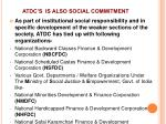 atdc s is also social commitment