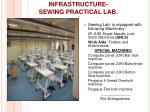 infrastructure sewing practical lab