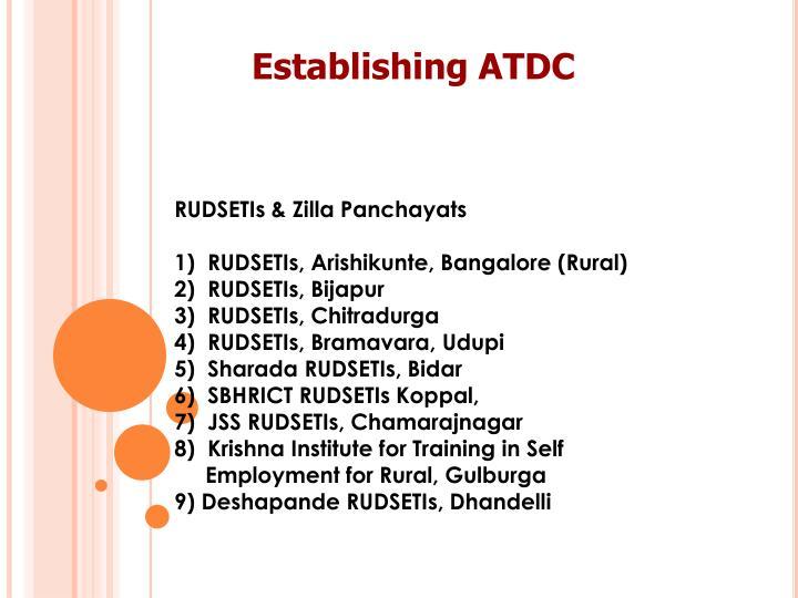 RUDSETIs & Zilla Panchayats