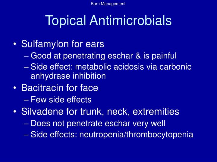 Topical Antimicrobials