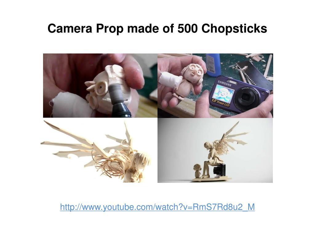 Camera Prop made of 500 Chopsticks