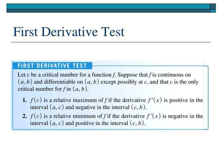 First Derivative Test
