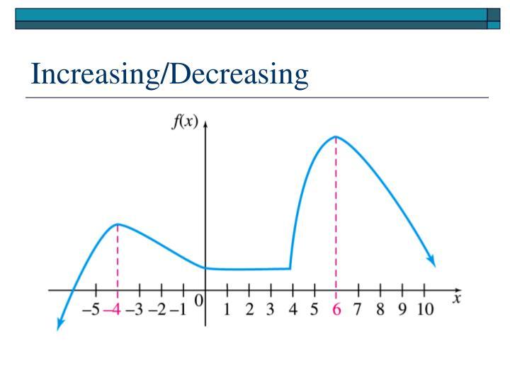 Increasing/Decreasing