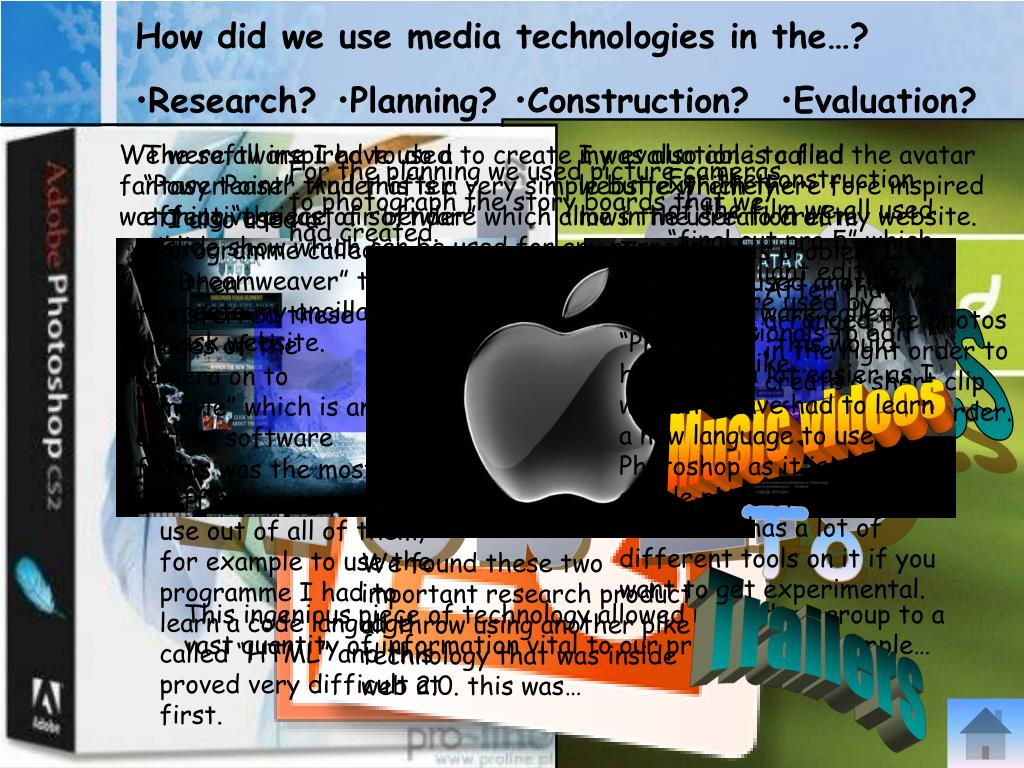 How did we use media technologies in the…?