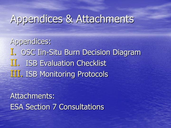Appendices & Attachments