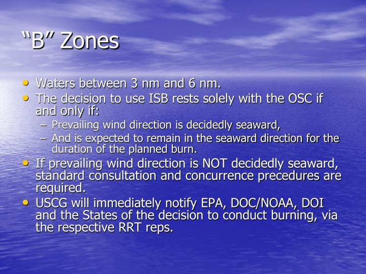 """""""B"""" Zones"""