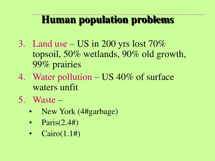 the problems with human population essay