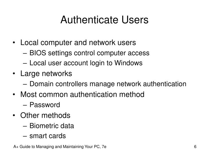 Authenticate Users