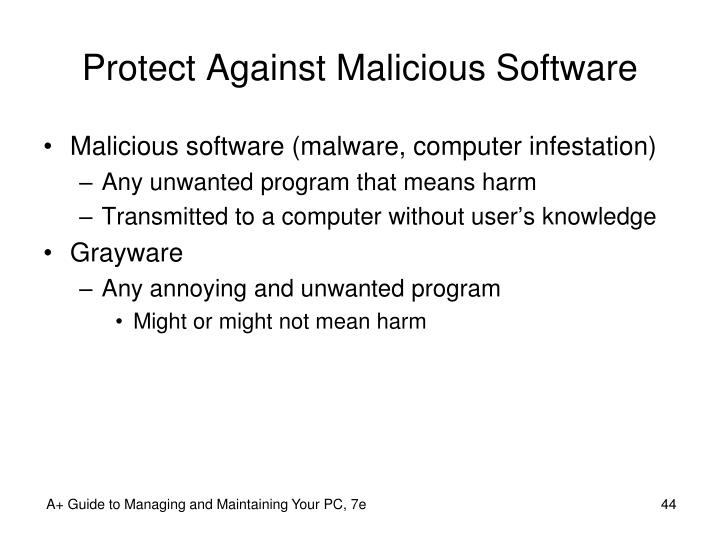 Protect Against Malicious Software
