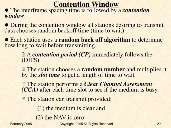 Contention Window