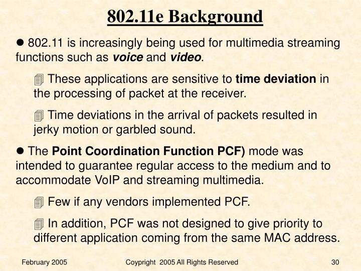 802.11e Background