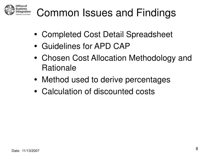 Common Issues and Findings
