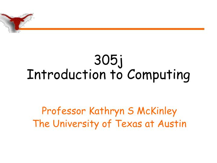 305j introduction to computing