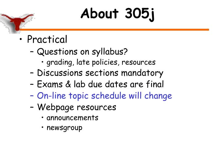 About 305j