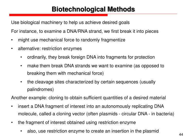 Biotechnological Methods
