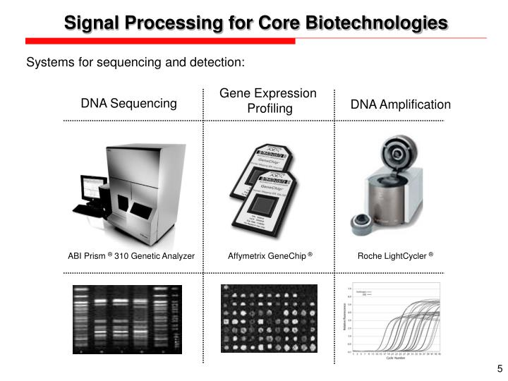 Signal Processing for Core Biotechnologies