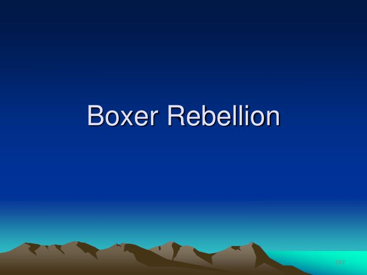Boxer Rebellion