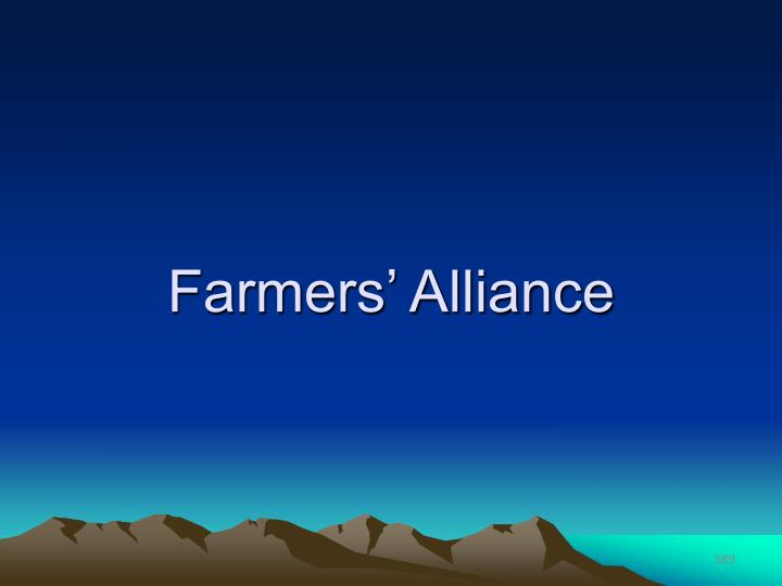 Farmers' Alliance