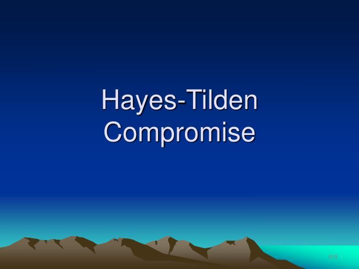 Hayes-Tilden Compromise