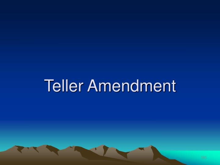 Teller Amendment