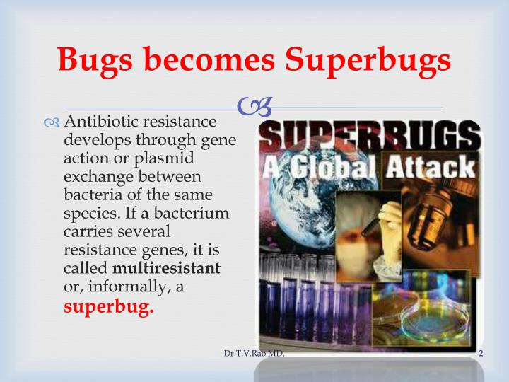 Bugs becomes superbugs
