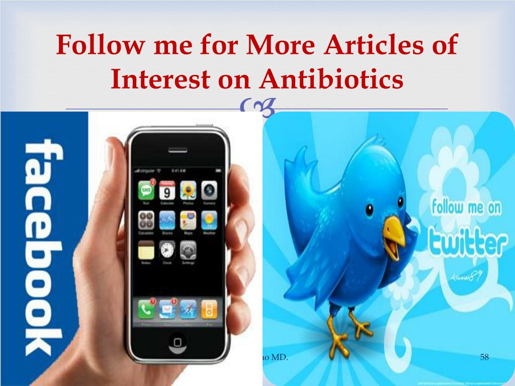 Follow me for More Articles of Interest on Antibiotics