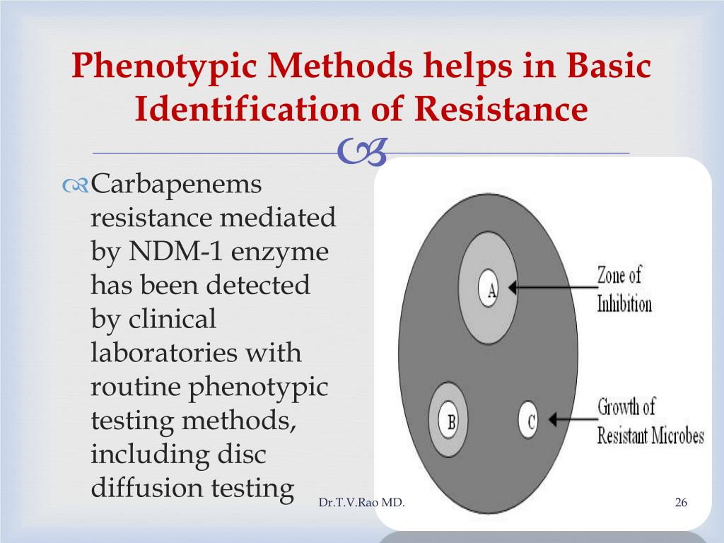 Phenotypic Methods helps in Basic Identification of Resistance