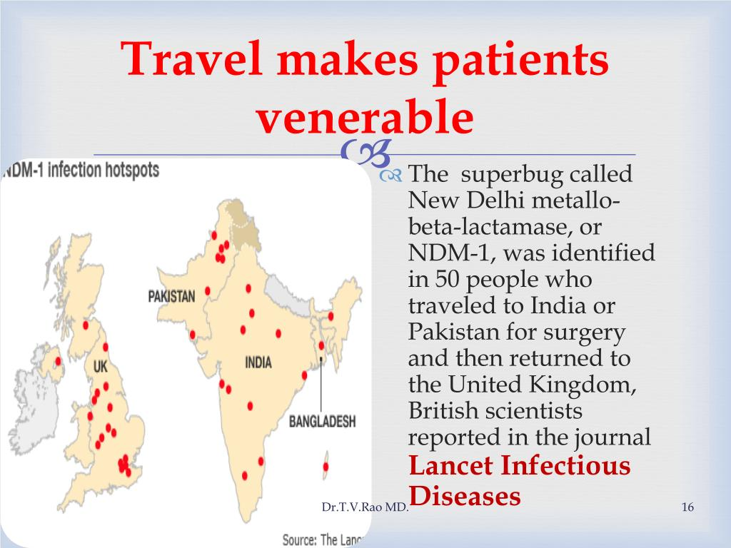 Travel makes patients venerable