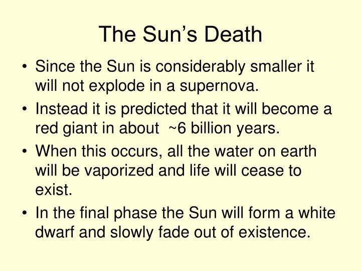 The Sun's Death