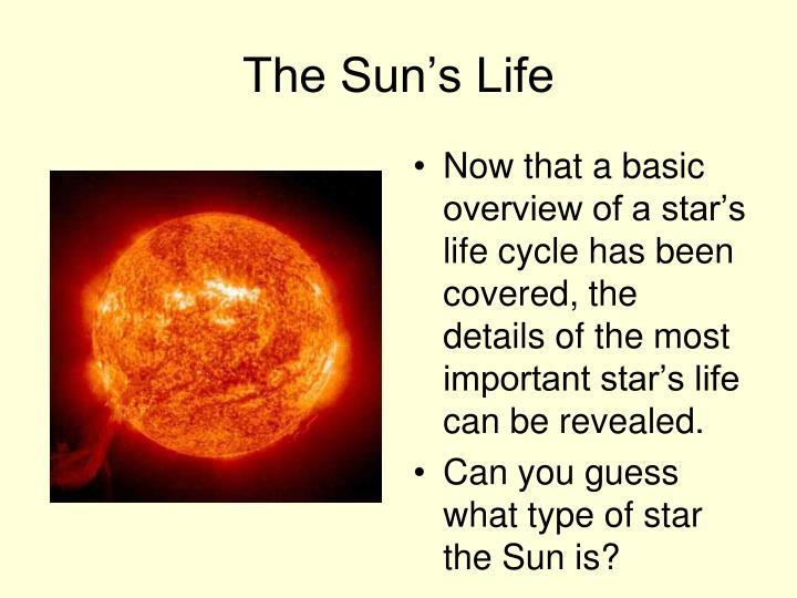 The Sun's Life