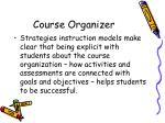 course organizer