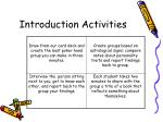 introduction activities