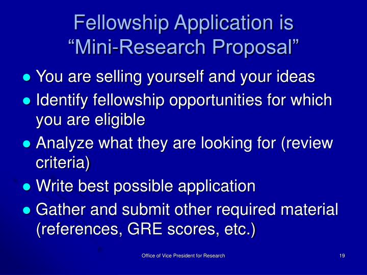 Fellowship Application is