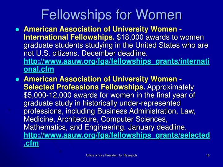 Fellowships for Women