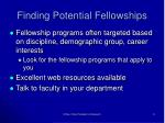 finding potential fellowships