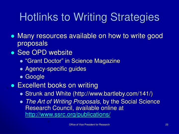 Hotlinks to Writing Strategies