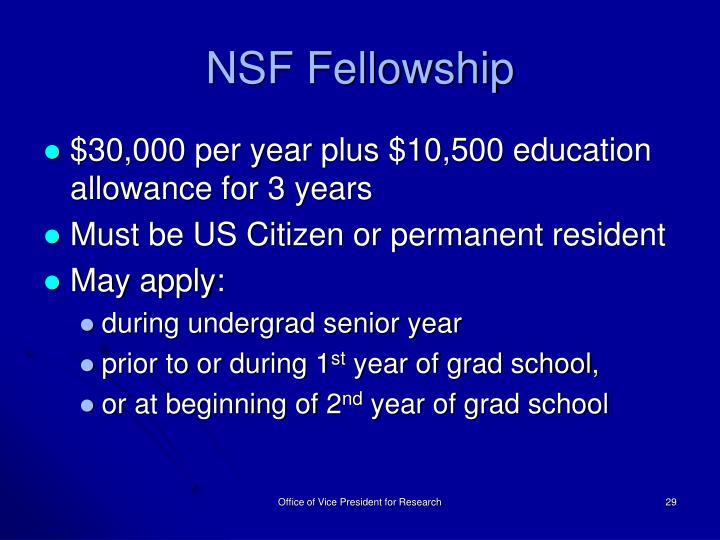 NSF Fellowship