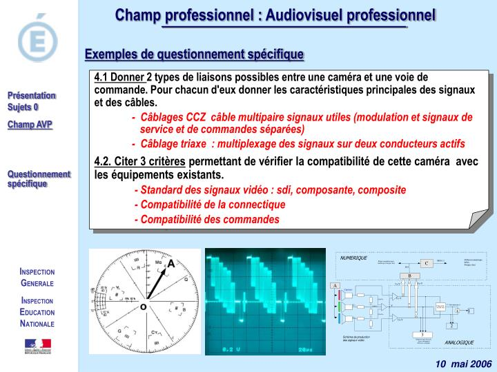 Champ professionnel :